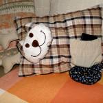 Poduszka dekoracyjna i użytkowa, szyta maszynie domowej