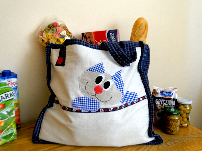 torba z kotem na zakupy