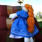 Hand made. Doll is made on a sewing machine from natural fabrics, finished by hand